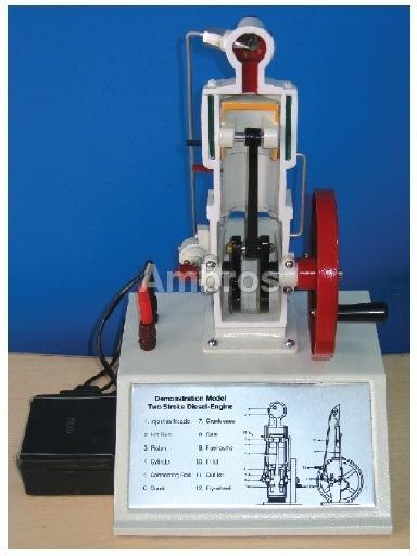 2 stroke diesel engine sectional working model