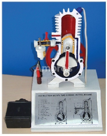 2 stroke petrol engine sectional working model