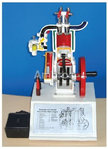 4 stroke petrol engine sectional working model