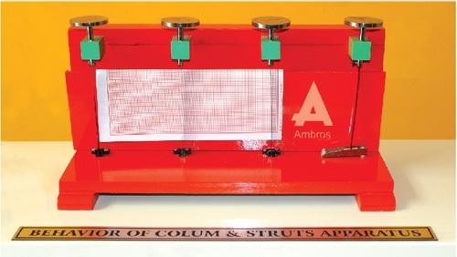 behaviour of column struts apparatus