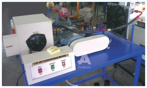 car air conditioning actual cut section
