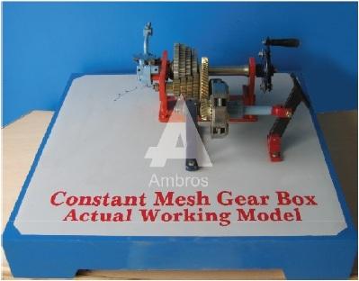 constant mesh gear box actual cut section