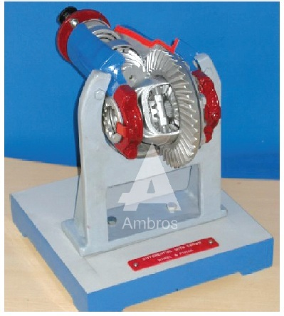 differential gear assembly actual cut section