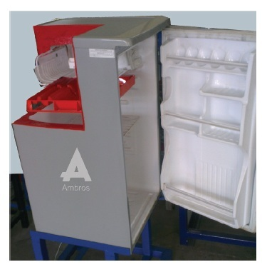 domestic refrigerator actual cut section