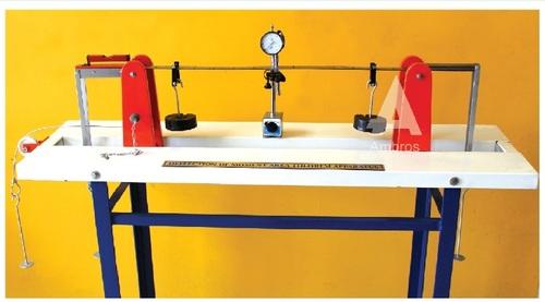 elastic properties of deflected beam apparatus