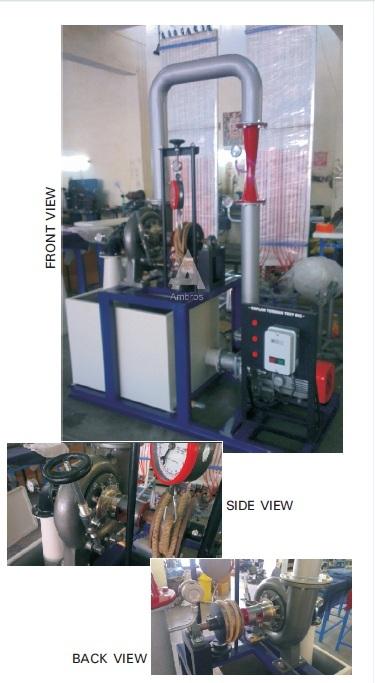 kaplan turbine test setup