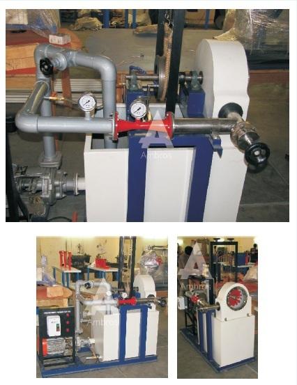 pelton wheel turbine test setup