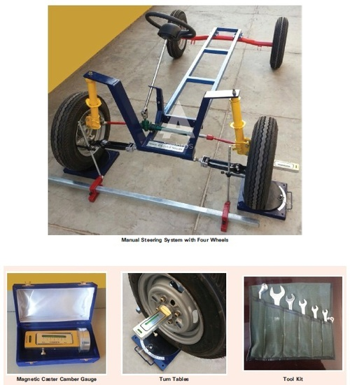 steering geometry wheel alignment trainer