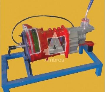 synchromesh gear box 4-forward 1-reverse with clutch plate
