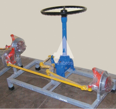 worm sector type steering system